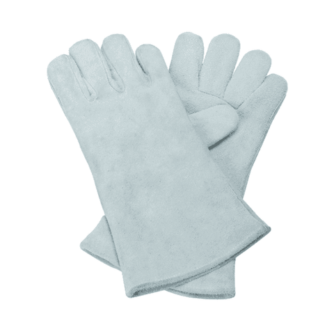 SK Safety Leather Gloves – White 10 Inch (Without Inner Lining)