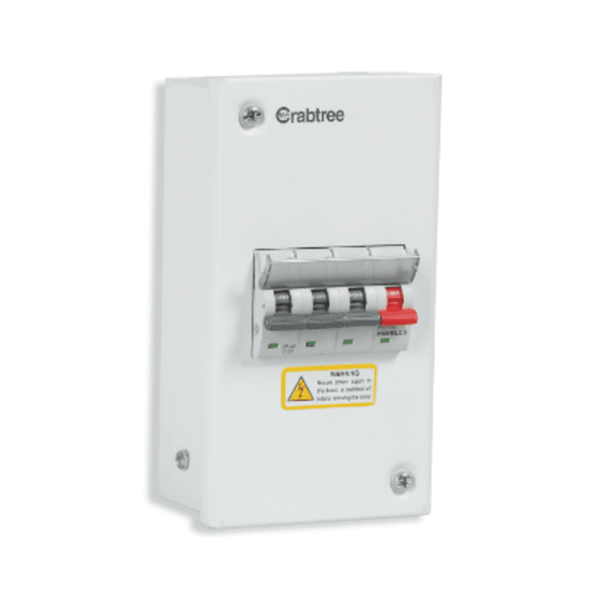 Crabtree Xpro MCB Enclosure Steel 4 Way – DCDESFP