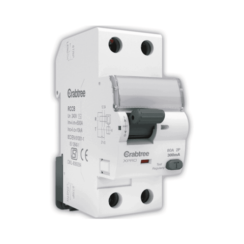 Crabtree Xpro Higher Rating RCCB 'AC' Type DP 300 mA