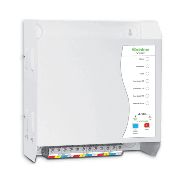 Crabtree Xpro Series TPN ACCL (TPN/SPN) With Gen Start/Stop