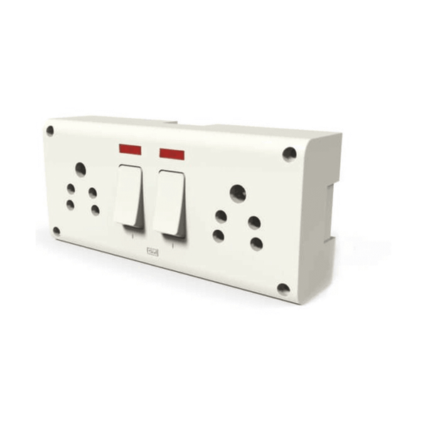 GM G-HOME VEDA 8 in 1 10A Switch & Socket Combined with Indicator and Gang Box – GM8055