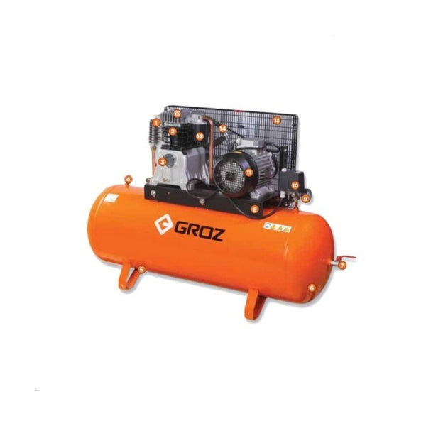 Groz Reciprocating Belt Driven Air Compressor RAC/3-21/150