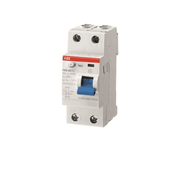 ABB RCCB 25-63A Two Pole F200 Series