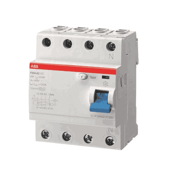 ABB RCCB 80-125A Four Pole F200 Series