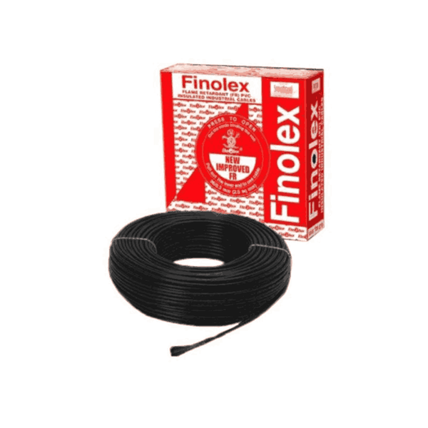 Finolex Flame Retardant PVC  Insulated Cable 90m Black