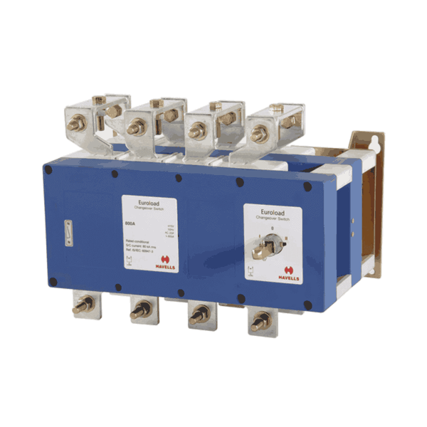 Havells Euroload On-Load Changeover  Switch with Advance Neutral 800-3150 A Four Ploe With SS Enclosure