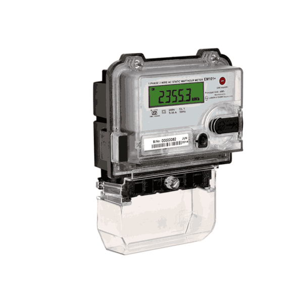 L&T Metering Device Single Phase kWh Meter With LCD display EM101 Class 1 Base Mounting