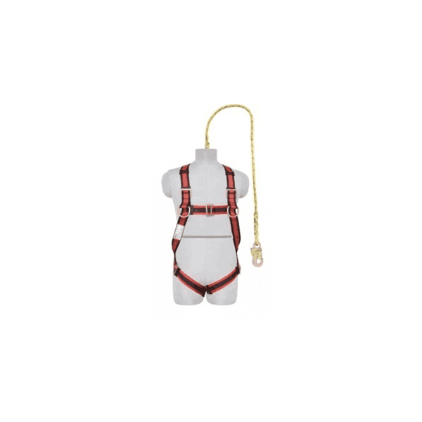 Karam Full Body Harness With Single Lanyard Snap Hook PN 16