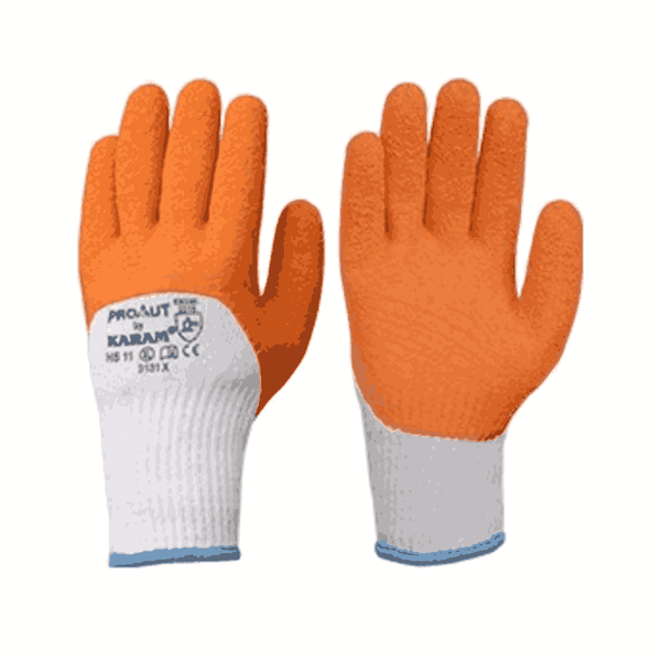 Karam Supported Latex Gloves Size:L HS 11
