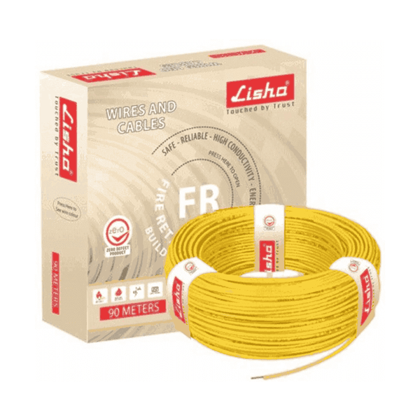 Lisha PVC Insulated Fire Retardant Building Wire 10 Sq. mm