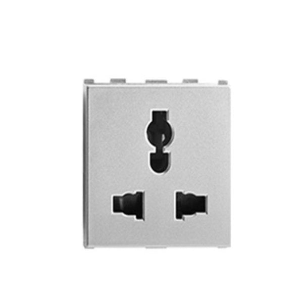 Anchor Roma 6A / 10A / 13A Combi Socket For All Pins 240V 2Module 66407S
