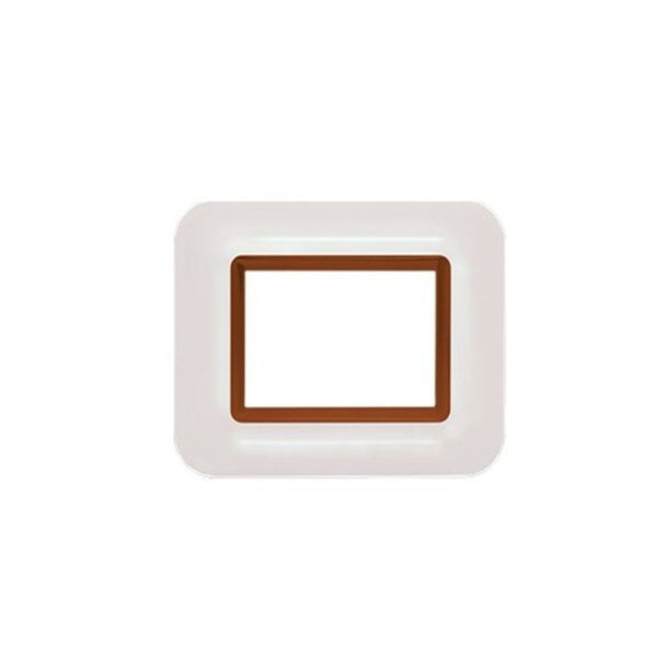 Anchor Roma Hue Cover Plates With Frame Copper White