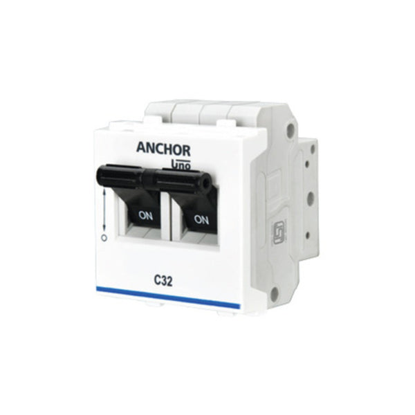 Anchor Roma C Type Mini Modular MCB Double Pole 6A-32A
