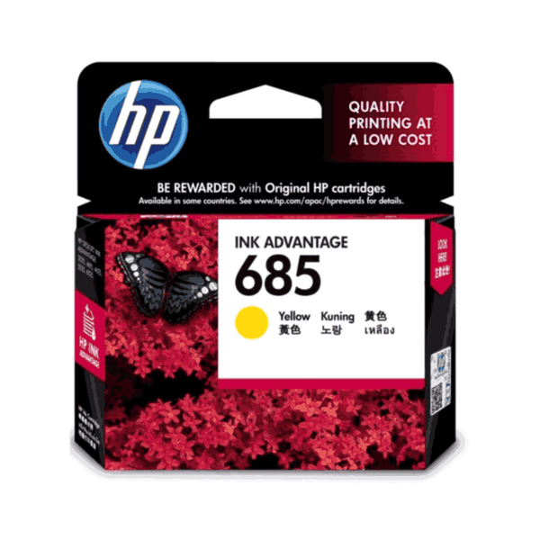 HP Yellow 3.5 ML Original Ink Advantage Cartridge 685