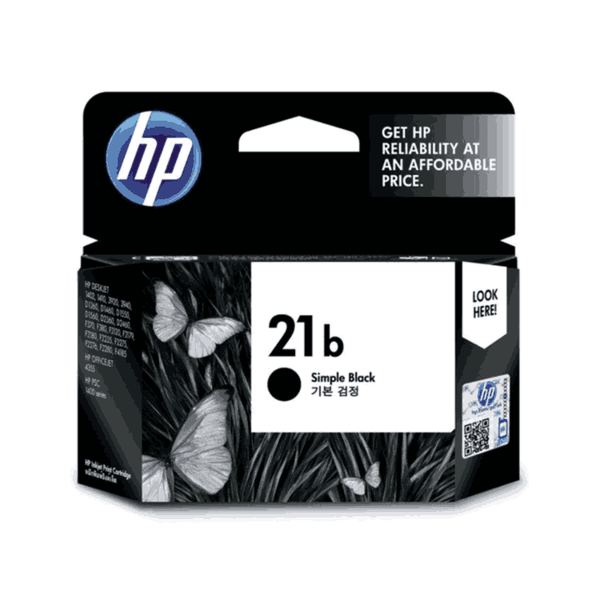 HP 21b Simple Black Original Ink Cartridge