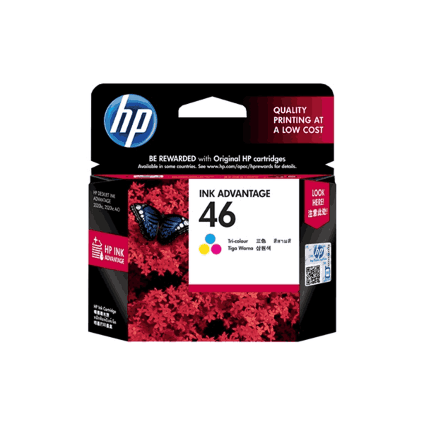 HP 14 ML Tri-color Original Ink Advantage Cartridge 46