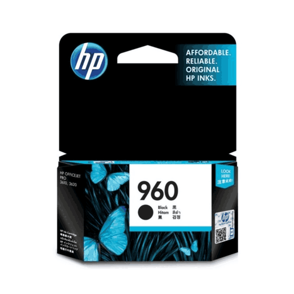HP 10.5 ml Black Original Ink Cartridge 960