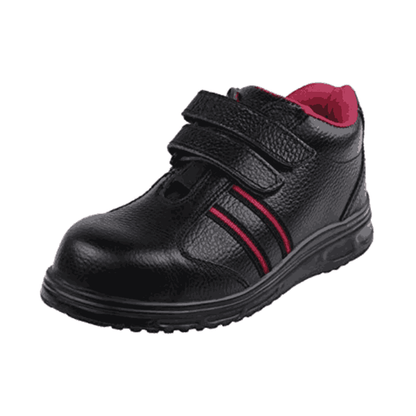 Acme Osmium Leather Leather Safety Shoe for Women