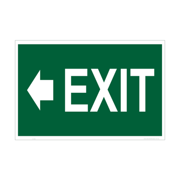 Usha Direction Signagues Sticker Exit 150x150mm (Pack of 5)