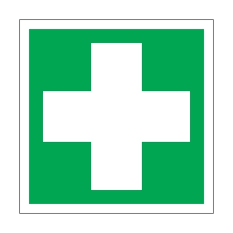 Usha Direction Signagues Sticker First Aid S8 150x150mm (Pack of 5)