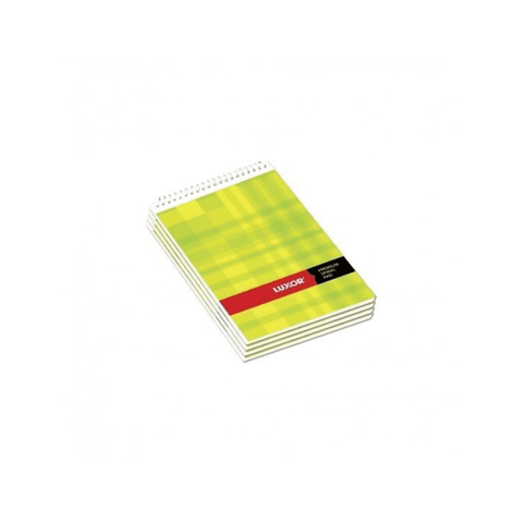 Luxor Spiral Note Pad UnRuled (Pack Of 200)