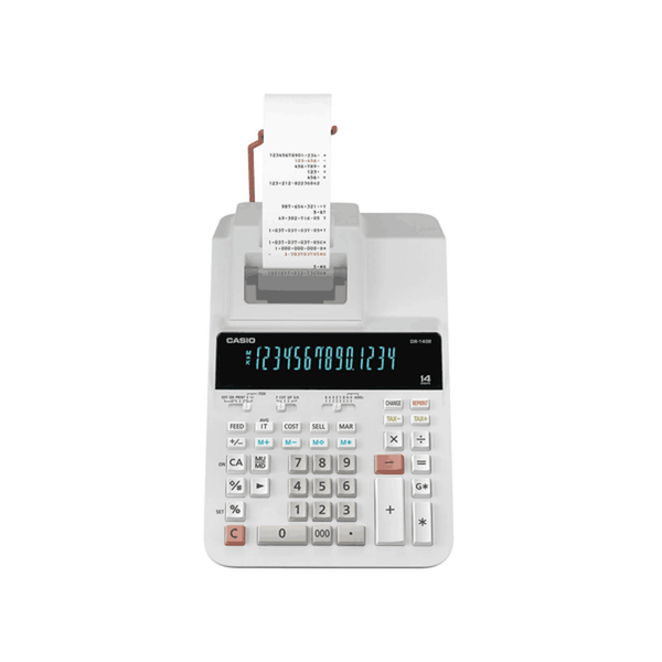 Casio Printing Calculator (White) DR-140R-WE