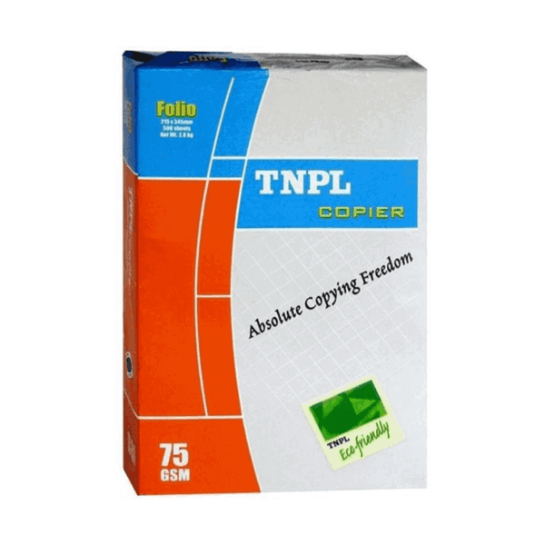 TNPL Unruled A4 size Printer Paper 75 GSM White (Pack of 5)