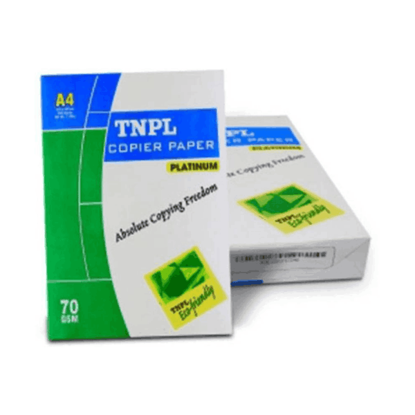 TNPL X Unruled A4 size Drawing Paper 70 GSM White (Pack of 5)