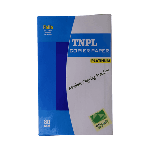 TNPL Platinum Unruled A4 Paper 80 GSM White (Pack of 5)