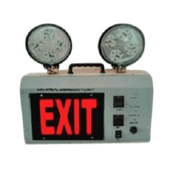 Maxigo 12 Watt LED Industrial Emergency Light With Exit Sign MODEL 2