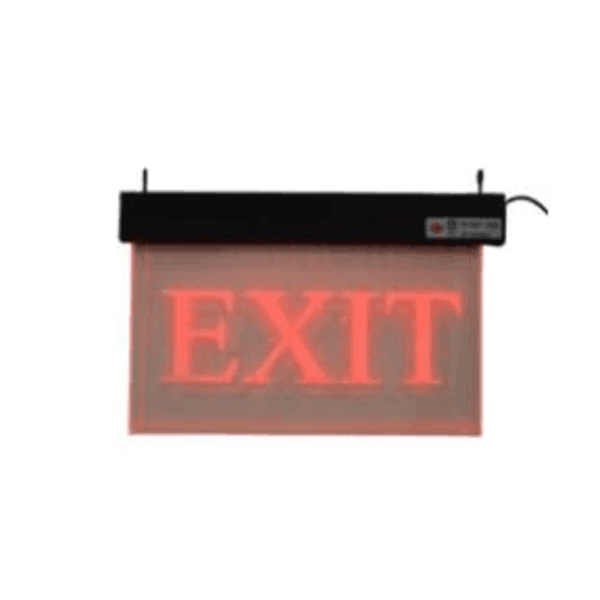 Maxigo Acrylic Red Exit Sign with Battery Backup RT-EXIT-AI/SO1