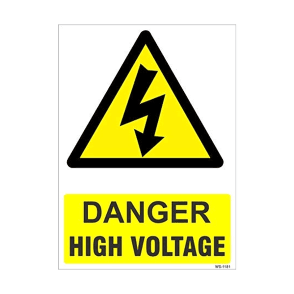 Maxigo Danger High Voltage Sign 11 inch x 8 inch WS-1181 (Pack Of 5)