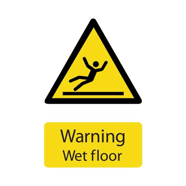 Maxigo Warning Wet Floor Sticker 150x200 mm (Pack Of 5)