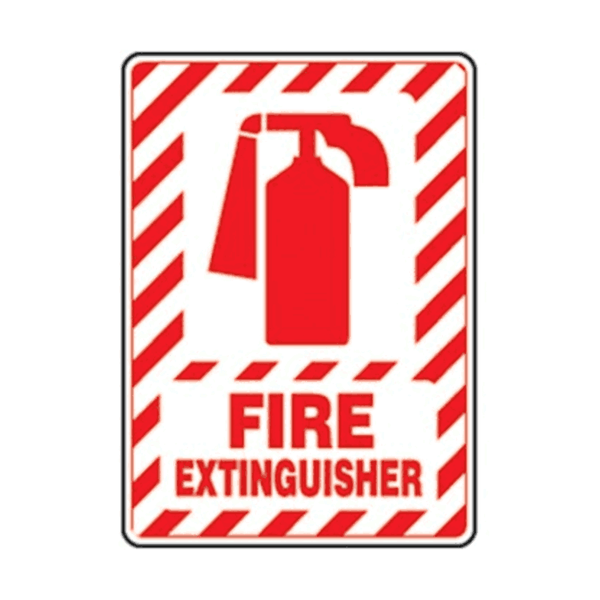 Maxigo Fire Extinguisher Sticker 20x15 cms (Pack Of 5)