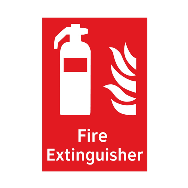 Maxigo Fire Extinguuisher Sticker 20x15 cms (Pack Of 5)