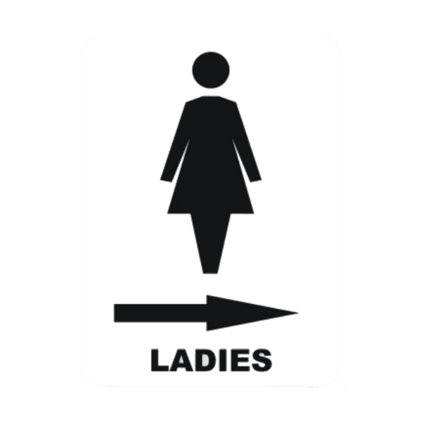 Maxigo Ladies In Right Sign Sticker 150 x 250 mm (Pack Of 5)
