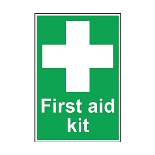 Maxigo First Aid Kit Sign Sticker 190 x 260 mm (Pack Of 5)