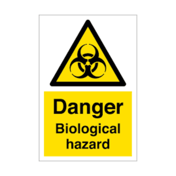 Maxigo Danger Biological Hazard Sticker 190 x 260 mm (Pack Of 5)