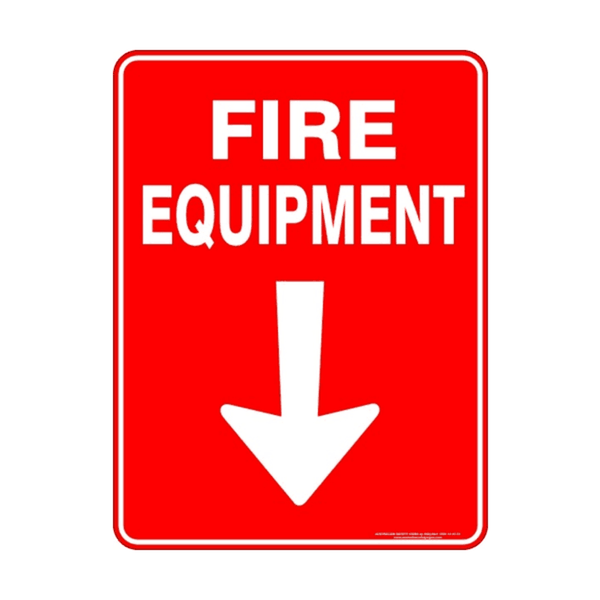 Maxigo Fire Equipment Sign 190 x 260 mm (Pack Of 5)