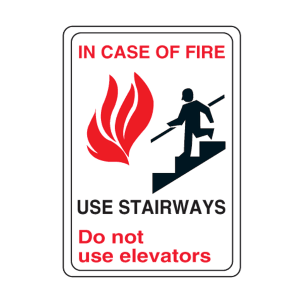 Maxigo Do Not Use Elevators Sticker 190 x 260 mm (Pack Of 5)