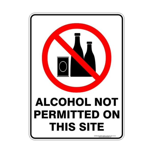 Maxigo Alcohol Not Permitted On This Site Sticker 190 x 260 mm (Pack Of 5)