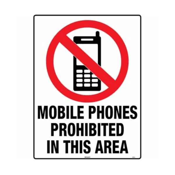 Maxigo Mobile Phones Prohibited In This Area 190 x 260 mm (Pack Of 5)