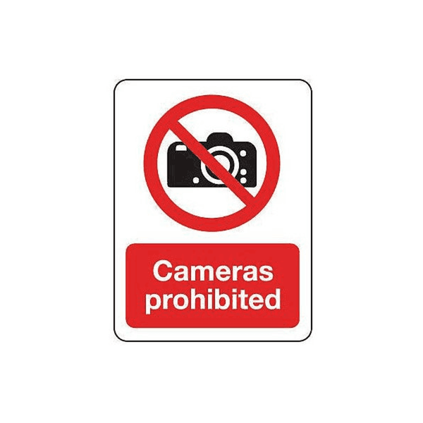 Maxigo Camera Prohibited Sign 190 x 260 mm (Pack Of 5)