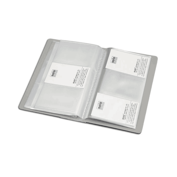 Solo Business Cards Holder 240 Cards Grey BC 802 (Pack of 100)