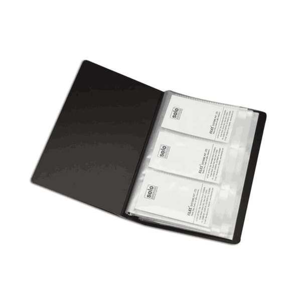 Solo Business Cards Holder 240 Cards Colour Mayvary BC 802 (Pack of 100)