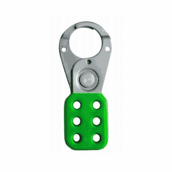 Asian Loto 38/39 mm Green Vinyl Molded Lockout Hasps (Pack of 20)