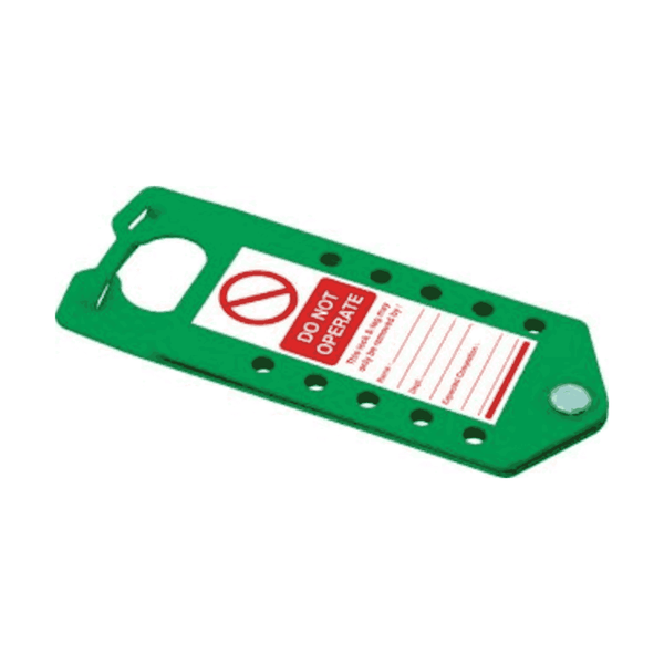 Asian Loto 10 holes Green Lockout Hasps (Pack of 20)