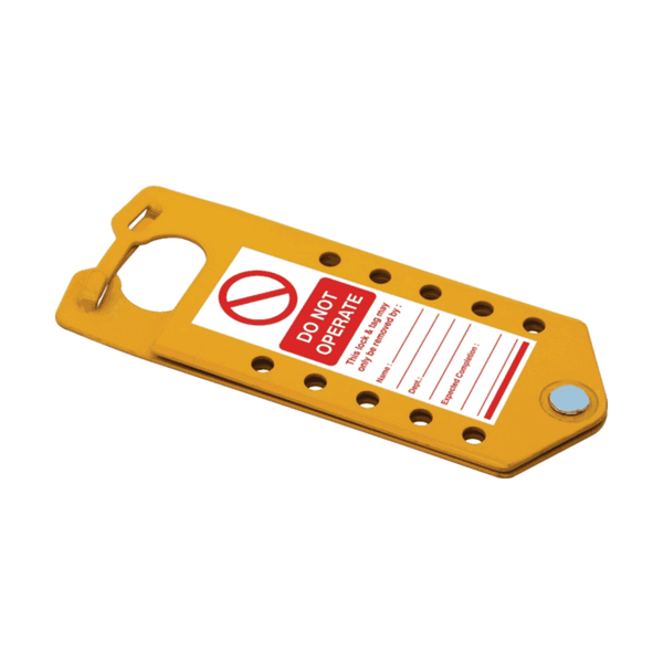Asian Loto 10 holes Yellow Labeled Lockout Hasps (Pack of 20)