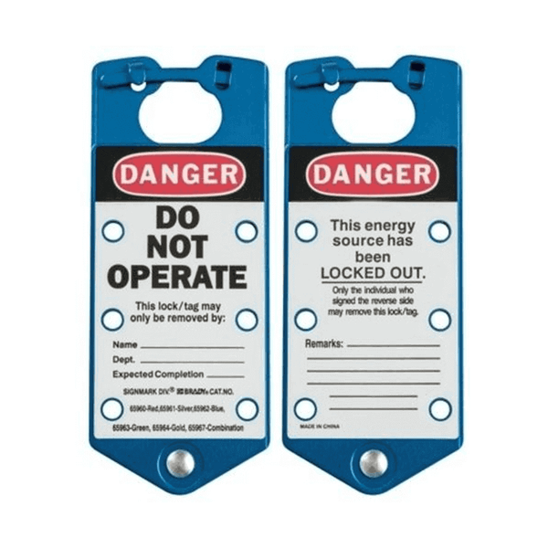Asian Loto 6 holes Blue Labeled Lockout Hasps (Pack of 20)