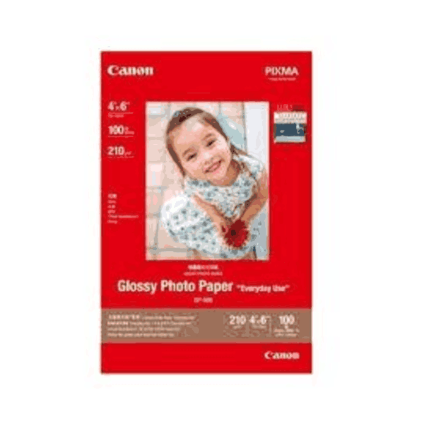 Canon photo paper Glossy Size-4x6 Inch 20 sheets GP-508 (Pack of 5)
